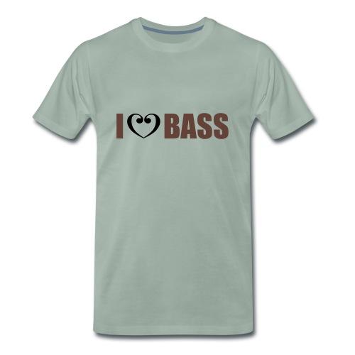 I love Bass - Männer Premium T-Shirt