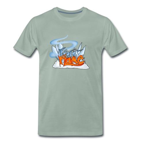 FrostFlame Logo - Premium T-skjorte for menn