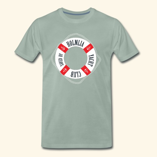 Who saved you? Holmlia Yacht Club. With LOVE. - Premium T-skjorte for menn