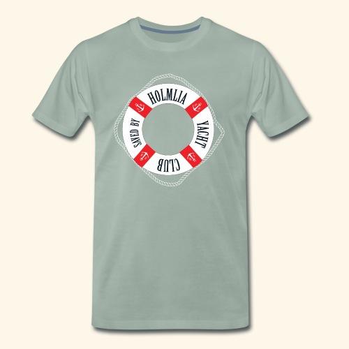 Who saved you? Holmlia Yacht Club. With LOVE. - Premium T-skjorte for menn