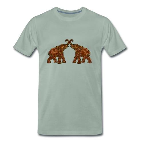 Afrikanische Elefanten - Männer Premium T-Shirt