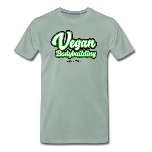 Vegan Bodybuilding -design - Miesten premium t-paita
