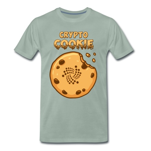 Crypto Cookie - IOTA - BTC, Bitcoin - Keks - Männer Premium T-Shirt