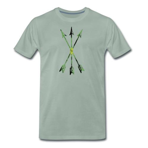 Scoia tael emblem green yellow black - Men's Premium T-Shirt
