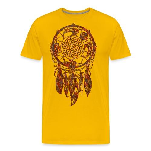 Blume des Lebens Traumfänger Schildkröte - Männer Premium T-Shirt