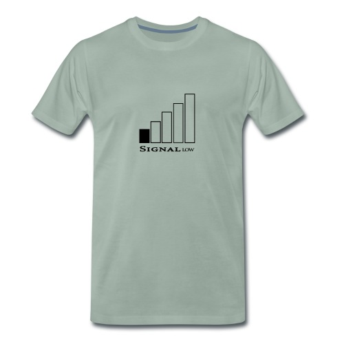 Signal low - Premium-T-shirt herr