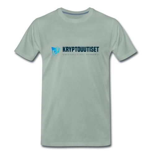 Kryptouutiset.net logo - Miesten premium t-paita
