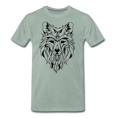 Hipster Wolf - Männer Premium T-Shirt