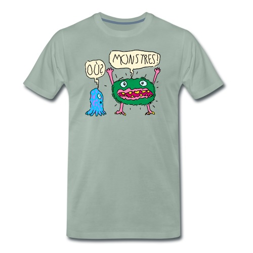 Monstres! Où? - T-shirt Premium Homme