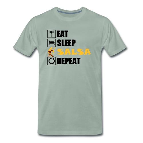 eat sleep SALSA repeat - Männer Premium T-Shirt