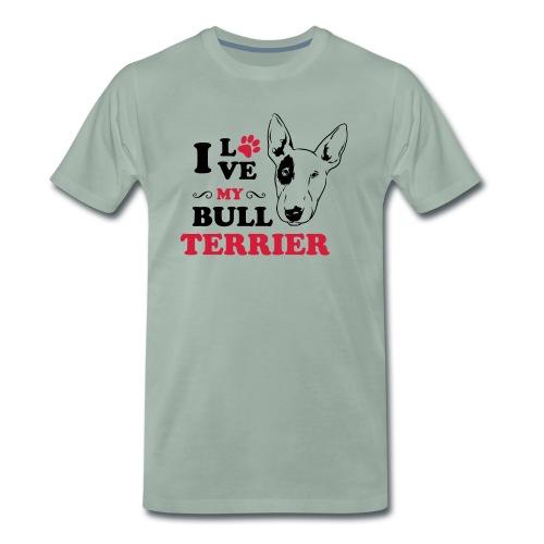 I love my Pitbull Terrier - Männer Premium T-Shirt