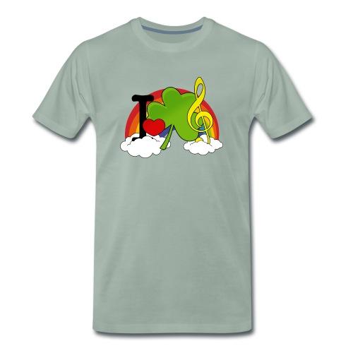 I love Irish Music - Männer Premium T-Shirt