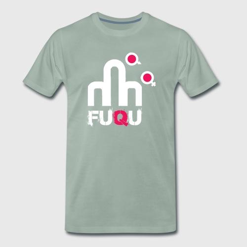 T-shirt FUQU logo colore bianco - Maglietta Premium da uomo