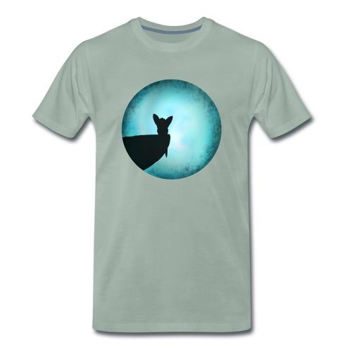 Tier im Mondlicht - Männer Premium T-Shirt