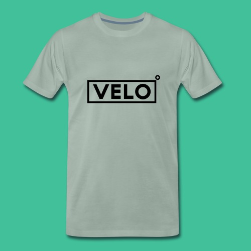 Velo Icon Blk - Long Sleeve Baseball Shirt W/N Clr - Men's Premium T-Shirt
