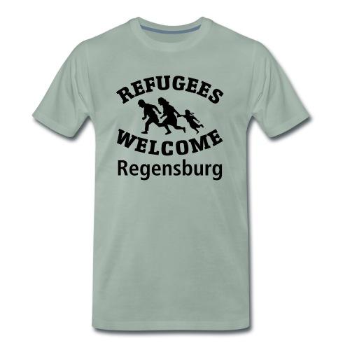 Refugees.Welcome.Regensburg - Männer Premium T-Shirt