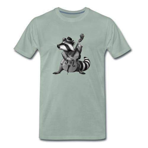 Racoon Musician - Männer Premium T-Shirt