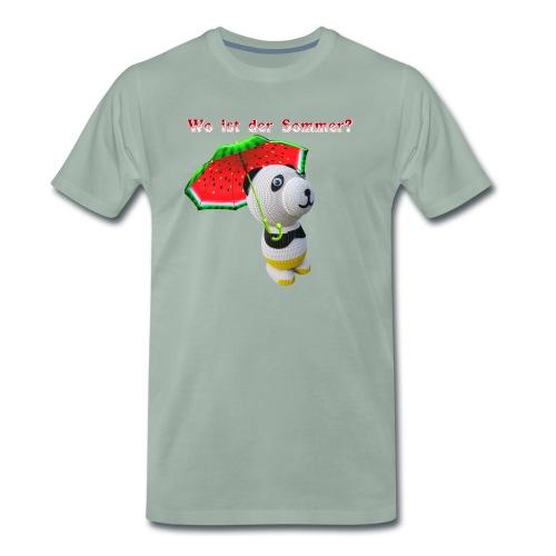 Wo ist der Sommer - Männer Premium T-Shirt