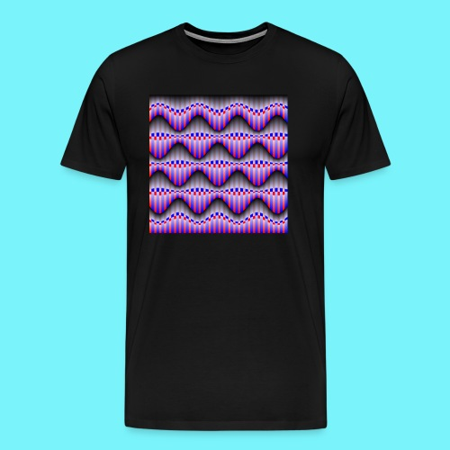 Sine waves in red and blue - Men's Premium T-Shirt