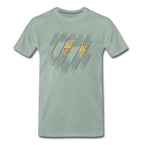 triangoli multicolori - Maglietta Premium da uomo