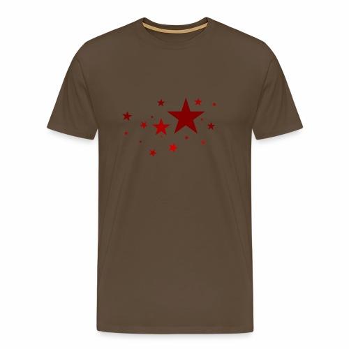 Sterne in Rot - Männer Premium T-Shirt