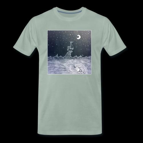 Saling Jade - Night Waves - Premium-T-shirt herr
