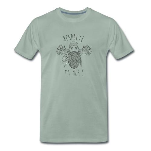 respecte ta mer - Marin - T-shirt Premium Homme