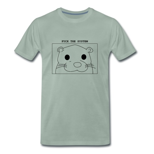 loutre fuck the system / otter fuck the system - T-shirt Premium Homme