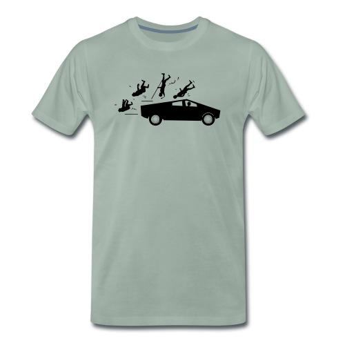 Evolution accident tesla Cybertruck par Elon Musk - T-shirt Premium Homme