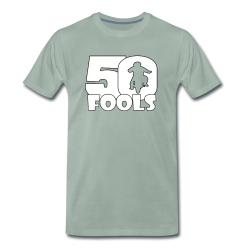 50FOOLSLOGOSPREADSHIRT png - Mannen Premium T-shirt