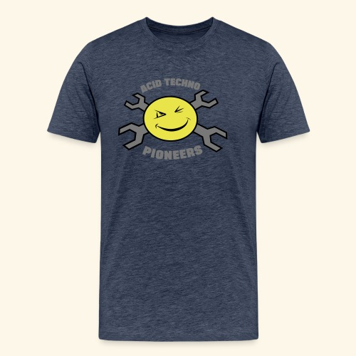 ACID TECHNO PIONEERS - SILVER EDITION - Men's Premium T-Shirt