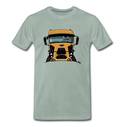 0812 F truck geel - Mannen Premium T-shirt