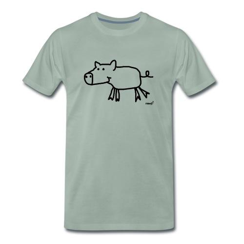 Schweinchen Olga - Männer Premium T-Shirt