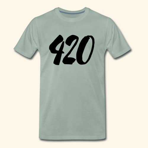 420 Cannabis Hemp Ganja Gift - Men's Premium T-Shirt