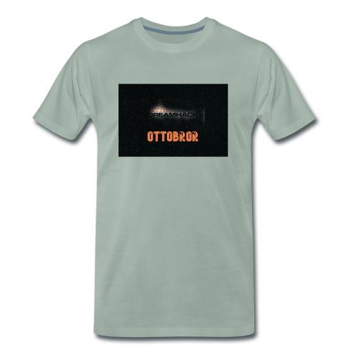 svart granit polerad - Premium-T-shirt herr