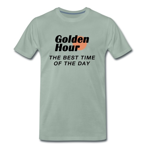 Golden Hour logo & slogan - Men's Premium T-Shirt