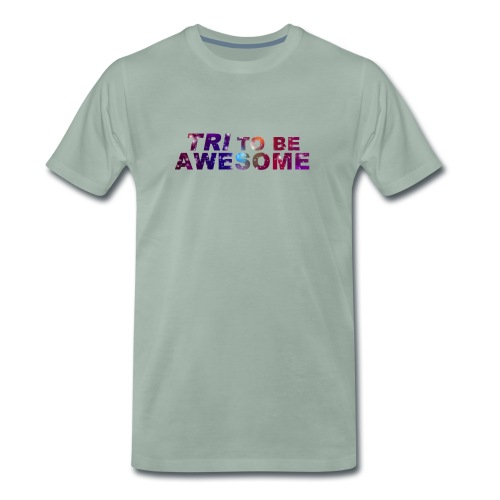 Tri to be Awesome Stars - Männer Premium T-Shirt