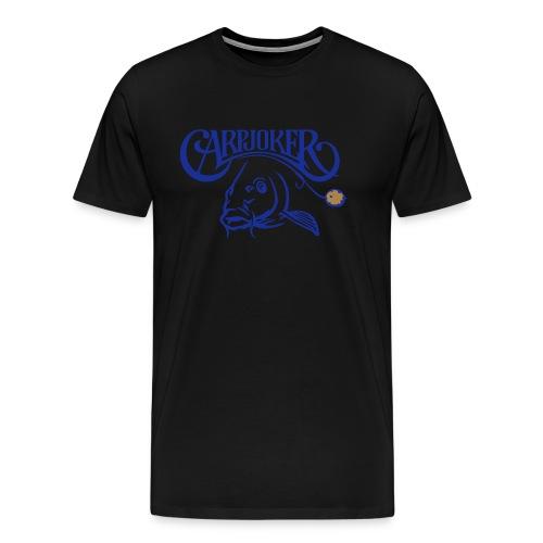 carpjoker_mit_karpfen_und_boilie_2c - Männer Premium T-Shirt