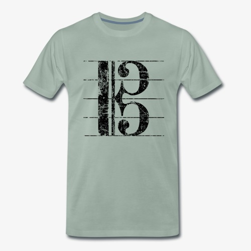 Altschlüssel, Bratschenschlüssel, Notenschlüssel - Männer Premium T-Shirt