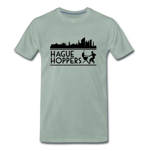 Hague Hoppers black logo - Mannen Premium T-shirt