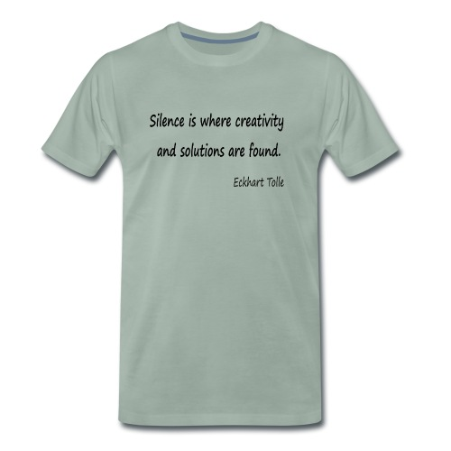 Silence and Creativity - Men's Premium T-Shirt