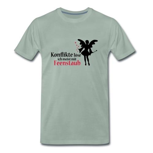 Konflikte löse ich meist mit Feenstaub (Spruch und - Männer Premium T-Shirt