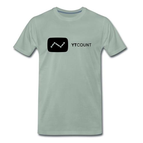 YTCount Logo White - Mannen Premium T-shirt
