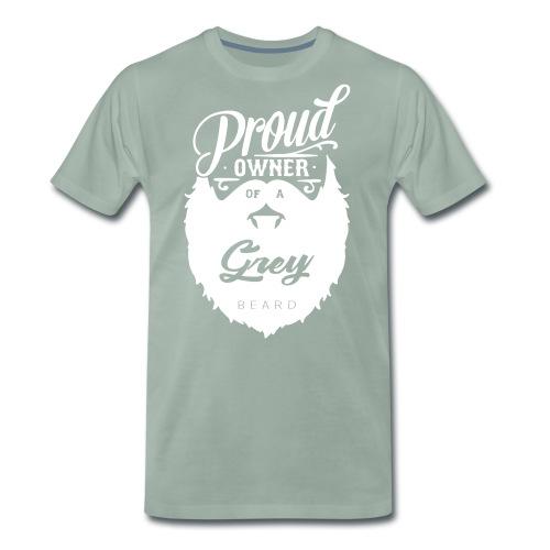 Proud owner - Grey - Premium-T-shirt herr