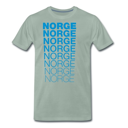 Norge Norge Norge Norge Norge Norge - Premium T-skjorte for menn