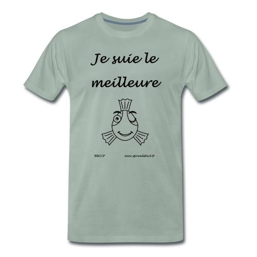Le Meilleure Tx noir - T-shirt Premium Homme