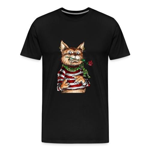 T-shirt - Crazy Cat - T-shirt Premium Homme