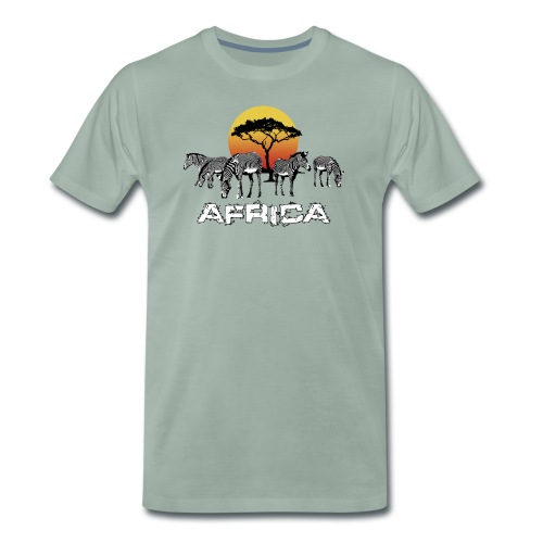 Zebras Afrika Wild Pferde Equus Serengeti Safari - Men's Premium T-Shirt