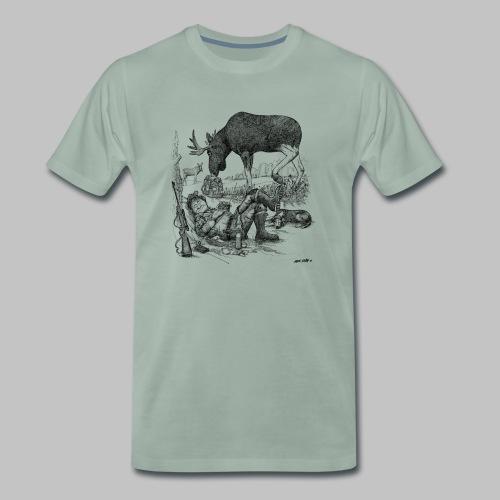 älgjägaren - Premium-T-shirt herr