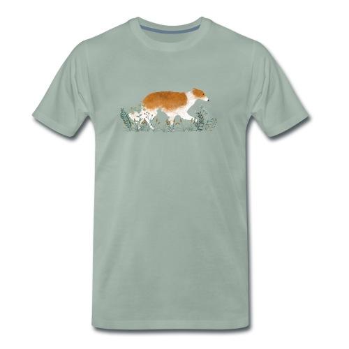Ein Barsoi auf einer Wiese - Männer Premium T-Shirt